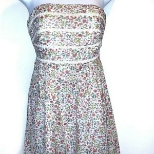 American Eagle Outfitters Strapless Floral Dress